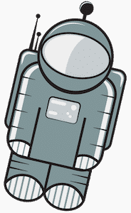Floaty, our friendly astronaut friend.