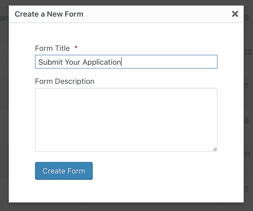 Create a New Form