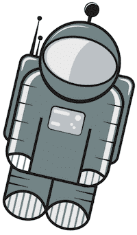 Floaty the Astronaut loves saving time by importing entries instead of manually entering them into Gravity Forms