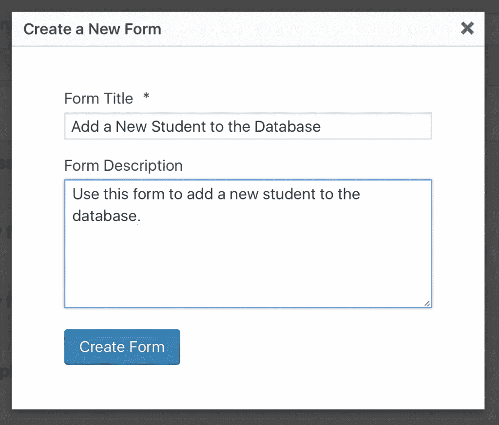 Title for Form