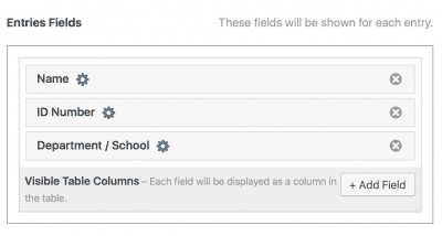 Fields in Multiple Entries Context