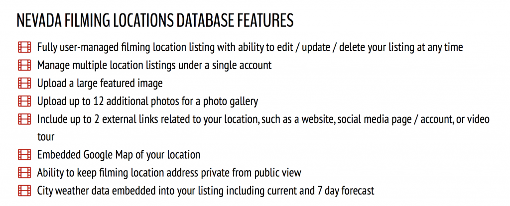 Features of the Film Location Database