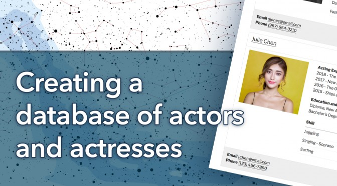 Creating a database of actors and actresses