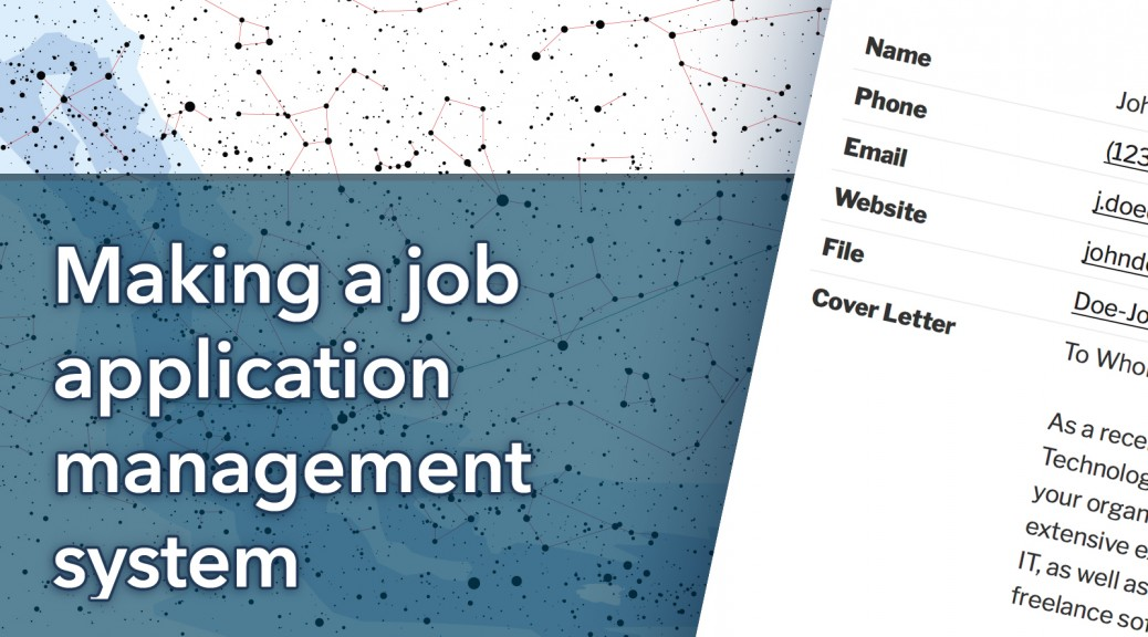 Making a Job Applicant Management System