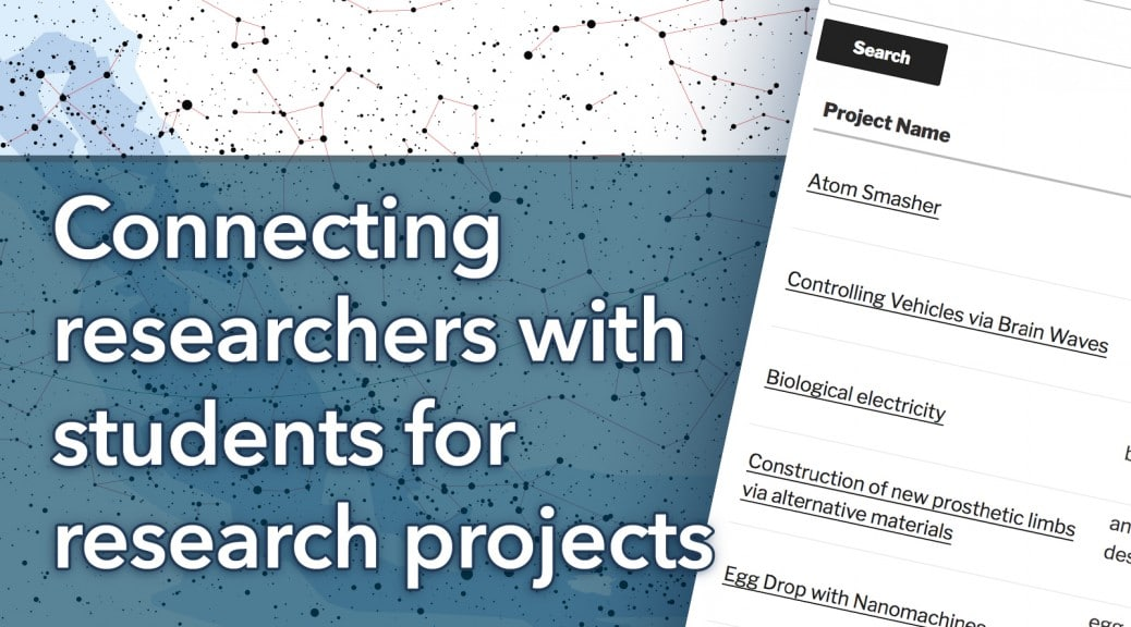 Connecting researchers with students for research projects