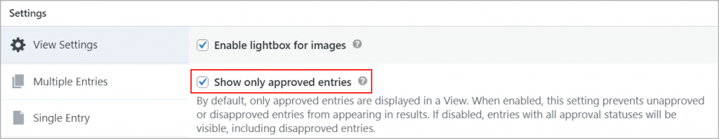 GravityView show only approved entries
