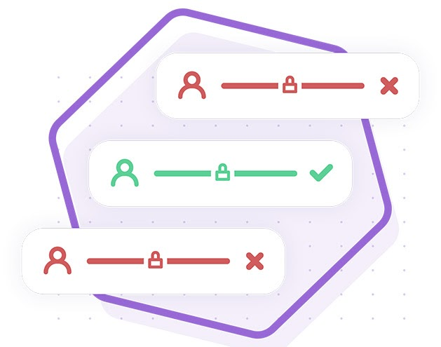A graphic detailing the advanced permissions functionality by showing user icons next to padlocks
