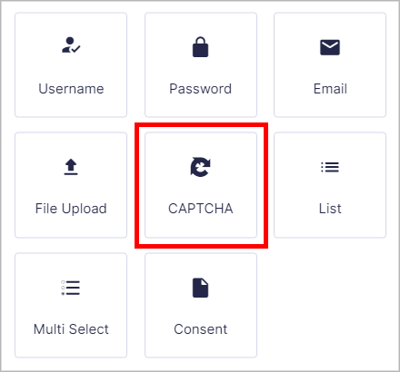 The Gravity Forms CAPTCHA field in the form builder
