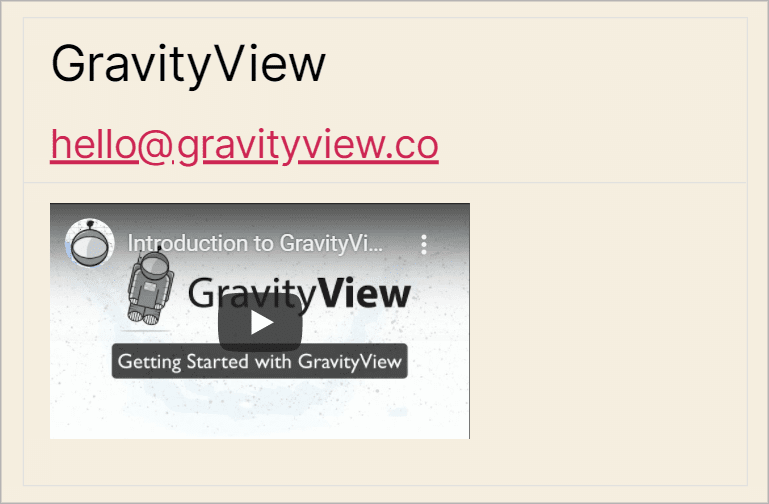 An embedded YouTube video from Gravity Forms
