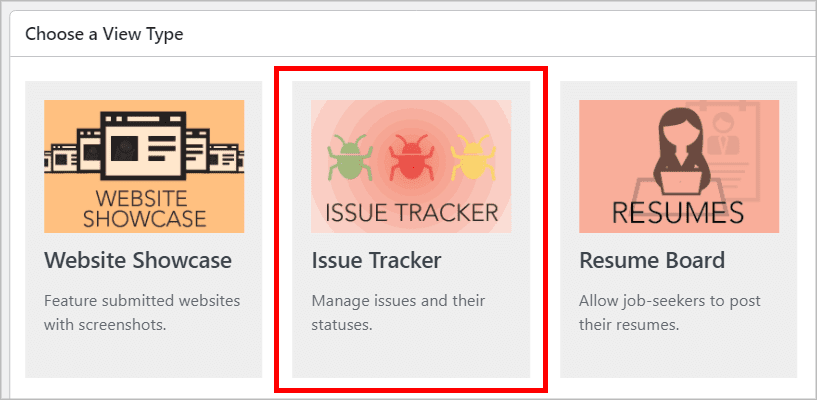 The Issue Tracker preset layout in GravityView
